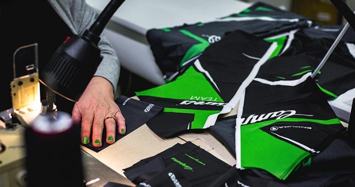Neue Campana Radsport Trikots in der Fertigung