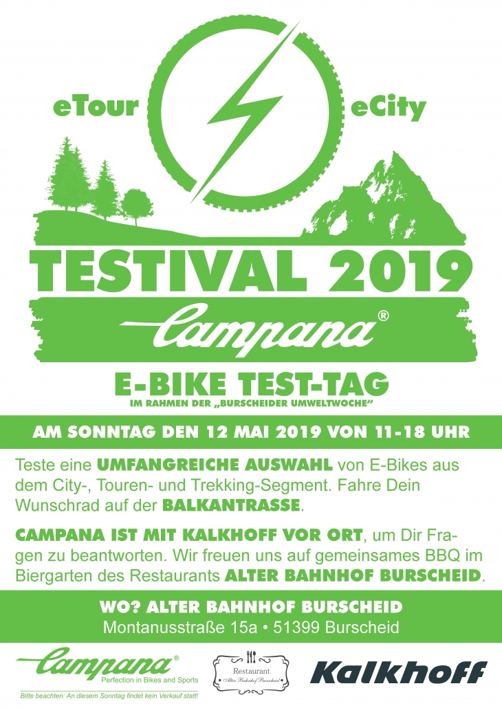 Campana Testival 2019 - E-Bike Test-Tag